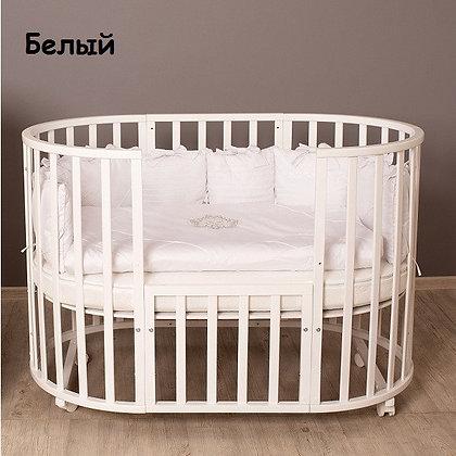 Кровать детская СЕВЕРНАЯ ЗВЕЗДА 9 В 1 КРУГ-ОВАЛ