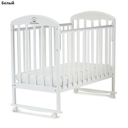 Кровать детская Альма-няня ВЕНЕЦИЯ (колесо, качалка, автостенка)