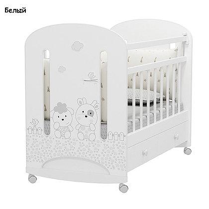 Кровать детская Альма Няня FATTORIA NUVOLA (колесо-качалка с ящиком)