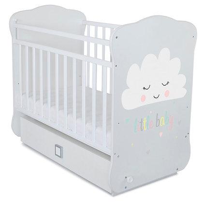 Кровать детская Альма-Няня ОБЛАЧКО (маятник с ящиком)