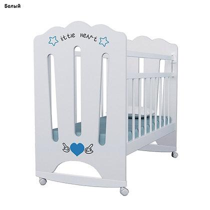 Кровать детская ВДК LITTLE HEART колесо-качалка