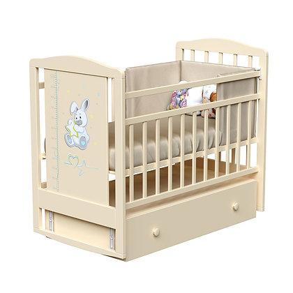 Кровать детская ВДК JOE с ростомером (маятник-ящик)