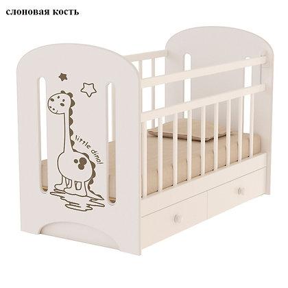 Кровать детская ВДК DINO с маятником и ящиком