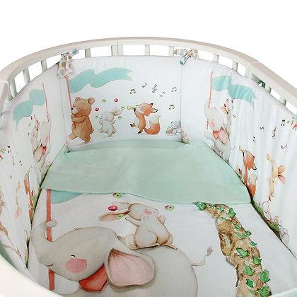 Комплект в кроватку 5 предм. ЦИРК, овал