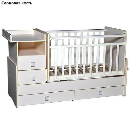 Кровать детская Антел УЛЬЯНА-4 с маятн.и пелен.стол.