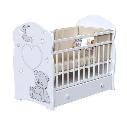Кровать детская ВДК BEAR and MOON (маятник-ящик)