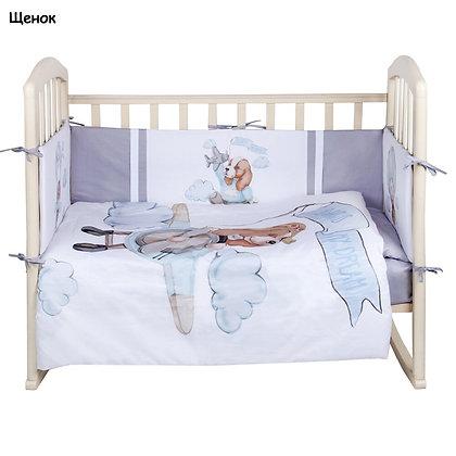 Комплект в кроватку 6 предм. ДЕТСКАЯ ИСТОРИЯ