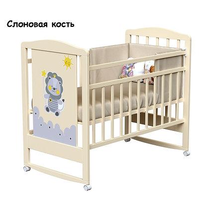 Кровать детская ВДК HAPPY LION (колесо-качалка)