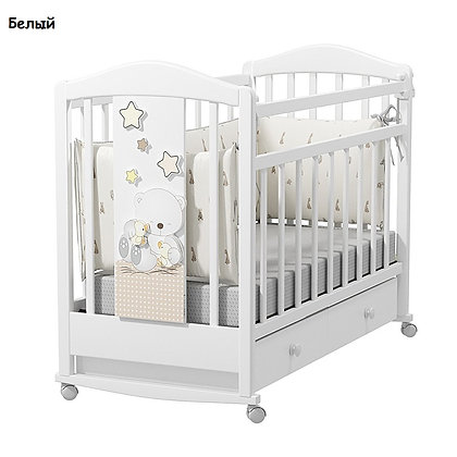 Кровать детская Альма Няня AMICI PRIMA (колесо-качалка с ящиком)