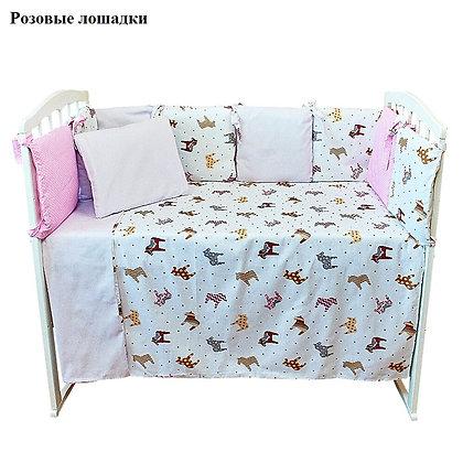 Комплект в кроватку 6 предм. КУБИКИ New