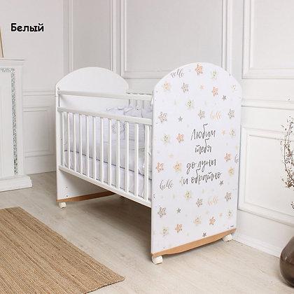 Кровать детская STAR BEIGE (фигур.спин., колесо-качалка)