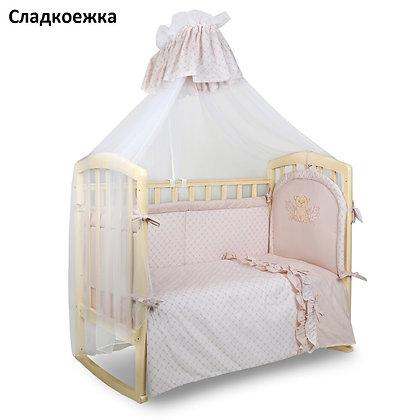Комплект в кроватку 7 предм. СЛАДКОЕЖКА