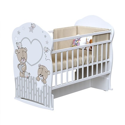 Кровать детская ВДК FOREVER FRIENDS (колесо-качалка-маятник)