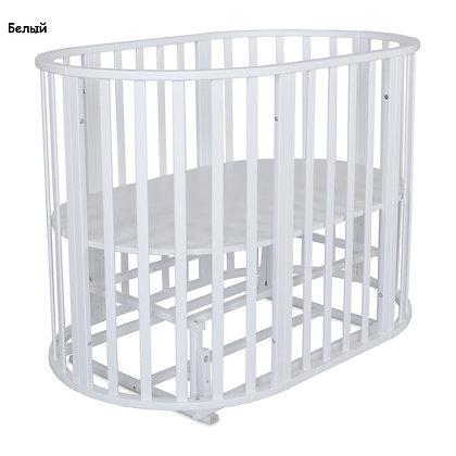 Кровать детская ОМЕГА 6 в 1 (круг-овал) с универсальным маятником
