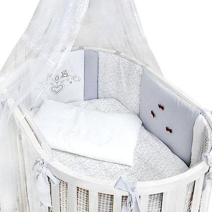 Комплект в кроватку 7 предм. ФРАНЦУЗСКИЙ, овал
