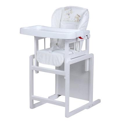 Стол-стул для кормления Globex МИШУТКА белый