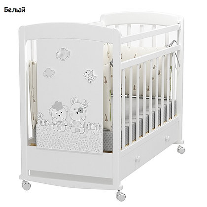 Кровать детская Альма Няня FATTORIA PRIMA (колесо-качалка с ящиком)