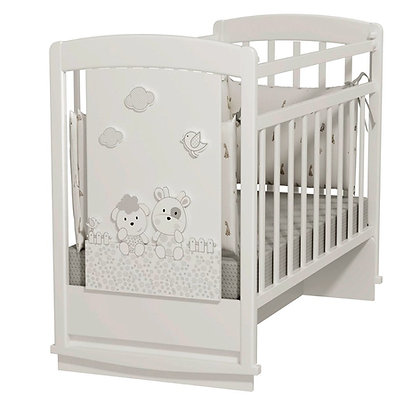 Кровать детская Альма Няня Fattoria Prima (колесо-качалка с маятником)