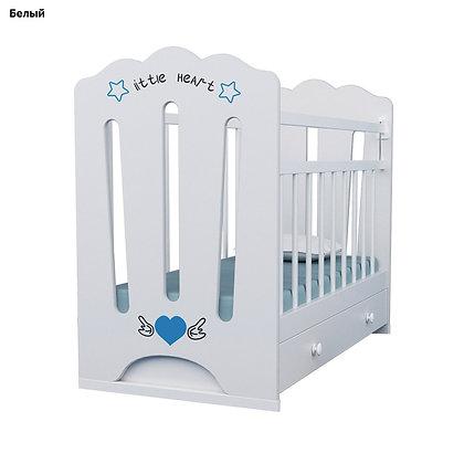 Кровать детская LITTLE HEART, маятник, ящик