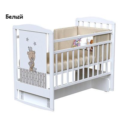 Кровать детская ВДК LOVE ME (колесо-качалка-маятник)