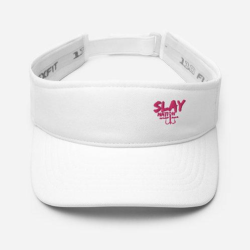 Slay- Visor  White/Pink