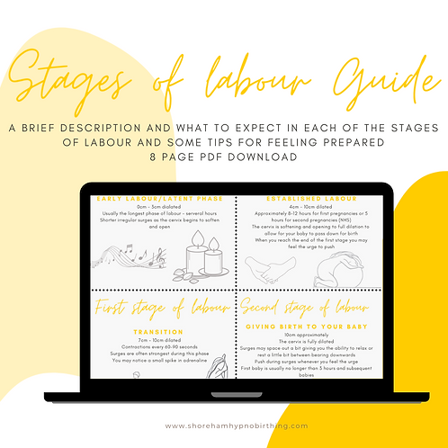 Stages of Labour Visual Guide 8 page pdf download What to Expect for Labour and