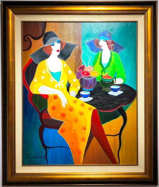 Oil Painting Tea Time