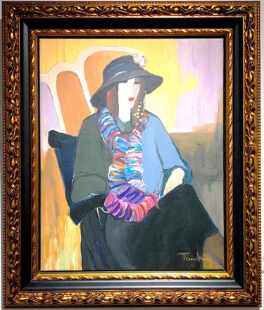 Itzak Tarkay Oil Painting Black Hat_edit