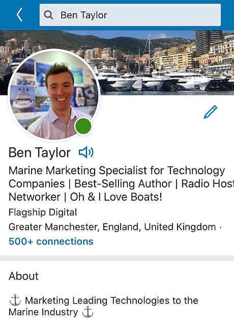 Ben Taylor - LinkedIn Profile - Taylor D