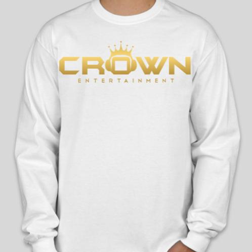 Crown White Long Sleeves Shirt