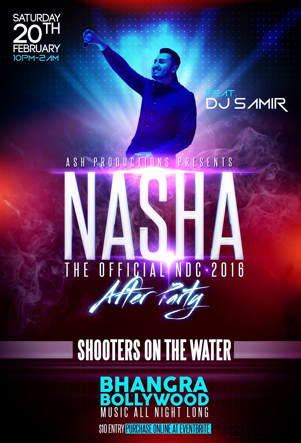 DJ Samir alongside Crown Entertainment is proud to host the official NDC afterparty: NASHA!