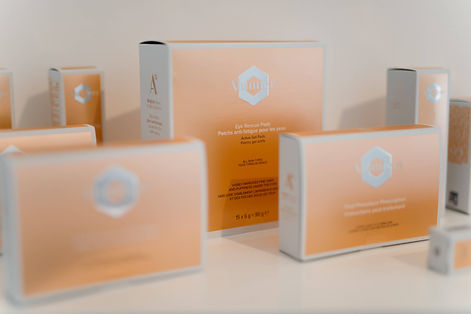 A range of medical grade skin care products from Alumier on display at The Goddess Clinic Edinburgh