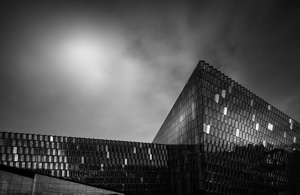 harpa, reykjavik, iceland, architectural photography