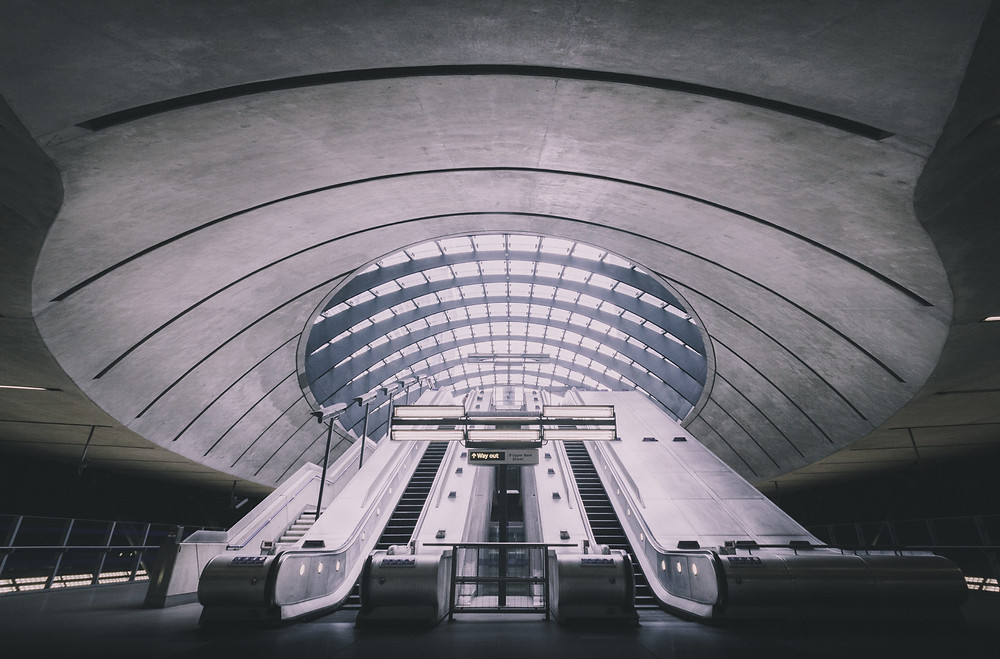 Canary Wharf, A journey underground by mark cornick photography