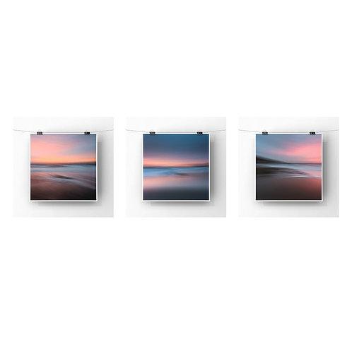 Fathom - Ocean Fire - Set Of Three Square Prints
