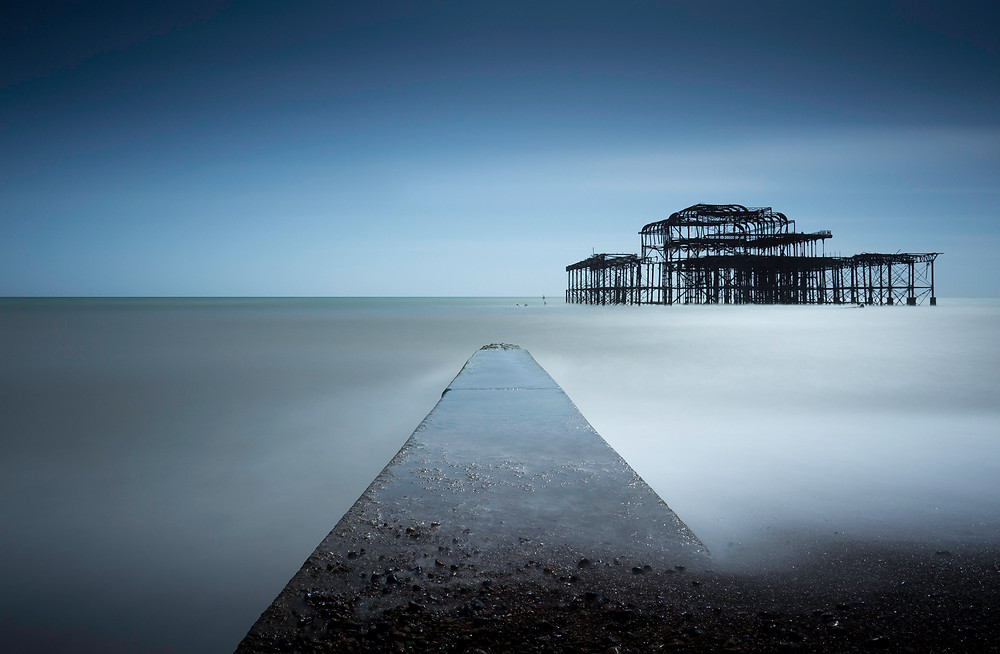 brighton west pier, lee filters 16 stop long exposure, mark cornick photography, landscape photography