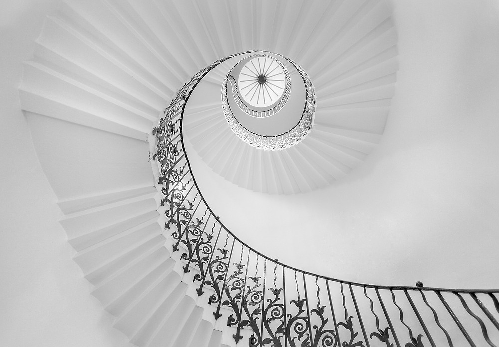 5 best spiral staircases in london, tulip staircase, royal museums, north greenwich