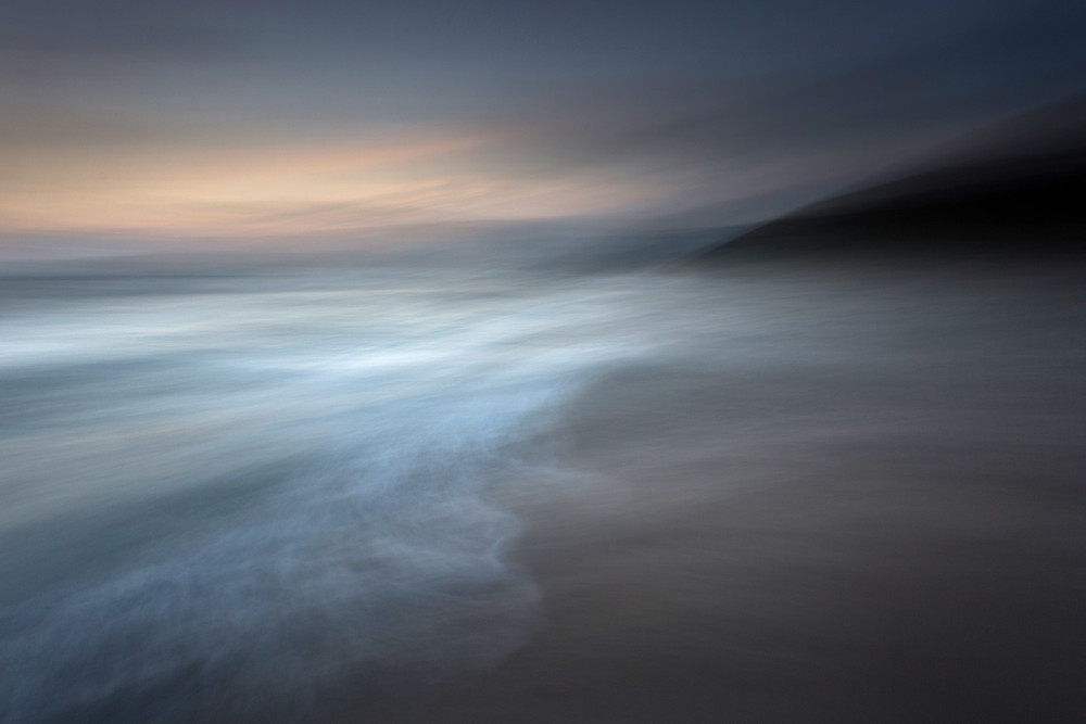 abstract cornish seascapes using intentional camera movement