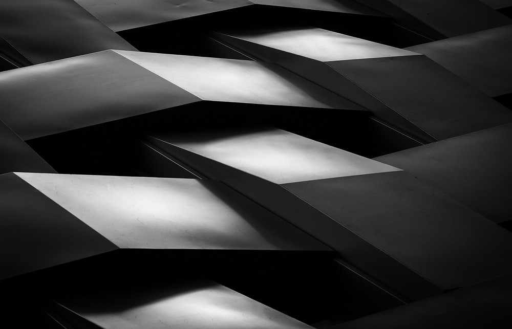 abstract  black and white london architecture photography by mark cornick