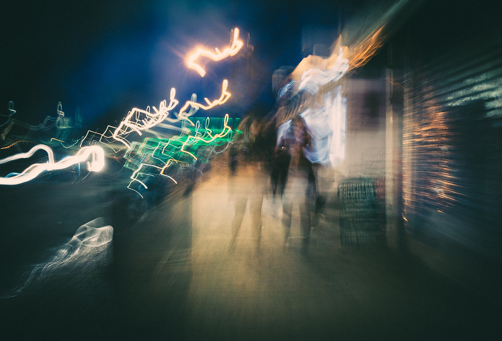 The Faceless City, ICM photography by Mark Cornick
