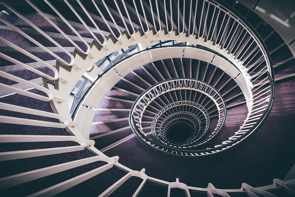 5 best spiral staircases in london, premier inn, blackfriars
