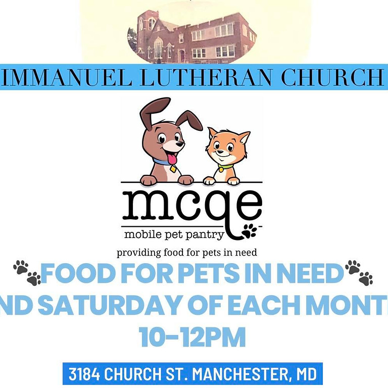 MCQE Mobile Pet Pantry Stop! Manchester MD