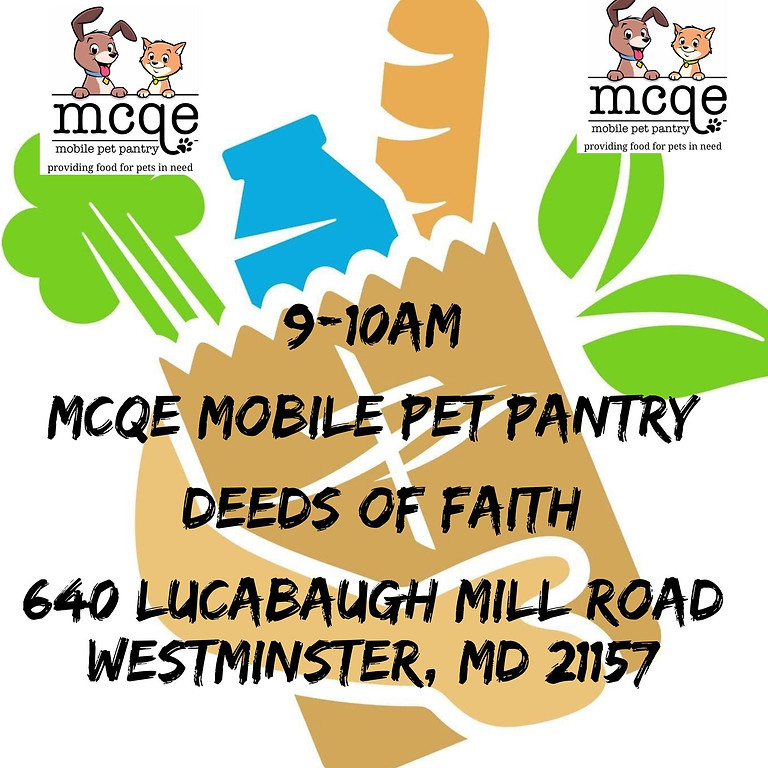 MCQE Mobile Pet Pantry Stop! Westminster, MD