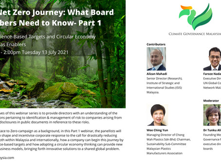 The Net Zero Journey: What Board Members Need to Know – Part 1