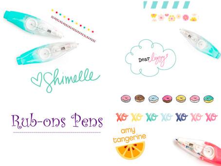 Rub-ons pens
