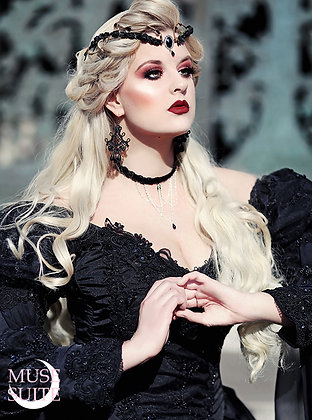 Gothic SET of branch crown and velvet gothic choker - victorian baroque cosplay