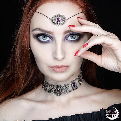 Witch Elegancy SET - baroque choker,  gothic tiara,  witchy jewelry, witch items