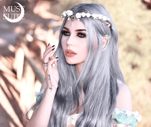 Fairy crown, fae tiara fantasy diadem,elven tiara,elvish circlet cosplay - white