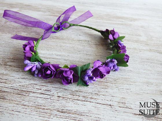 Purple Violet Baby Crown - Tiaras for babies - Lavender Baby diad
