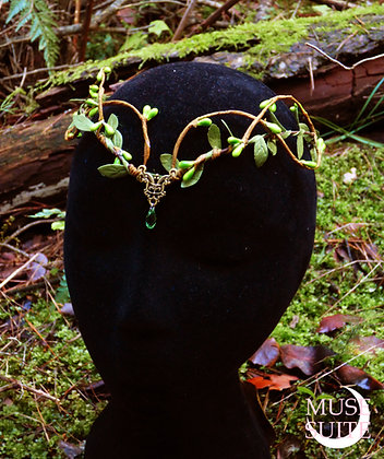 Elven tiara- elf crown- elvish circlet- fairy diadem- forest woodland headdress